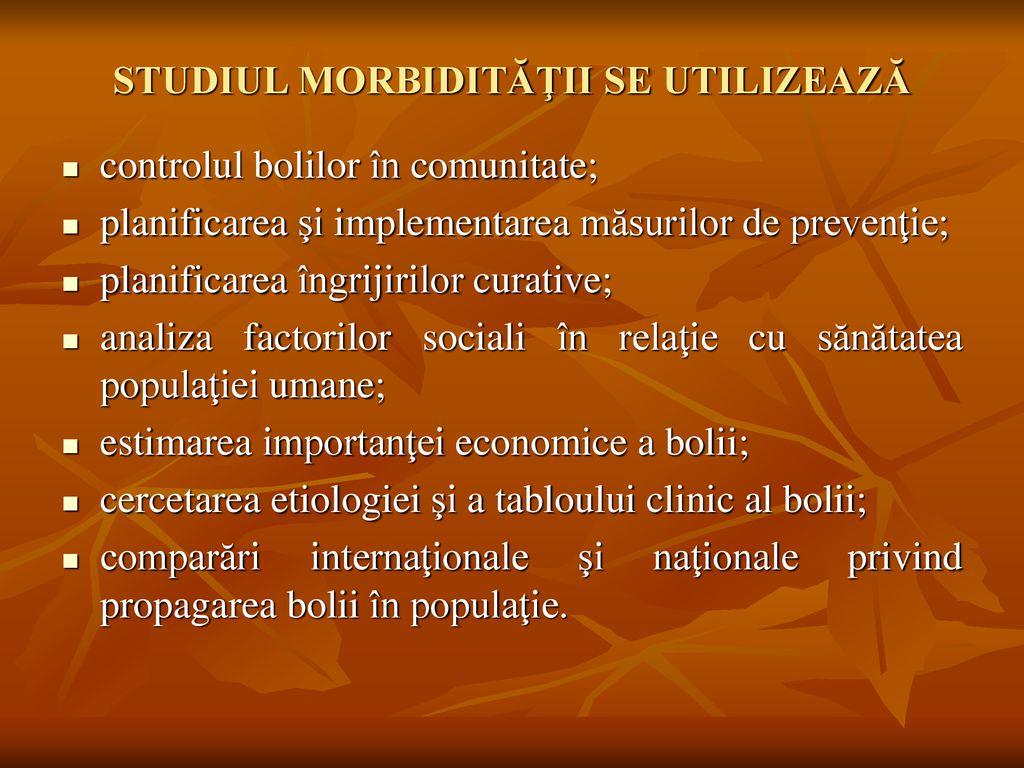 morbiditatea populatiei ppt