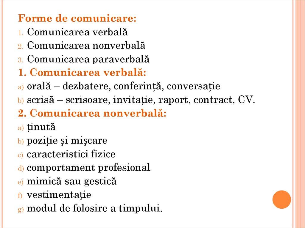 forme de comunicare)