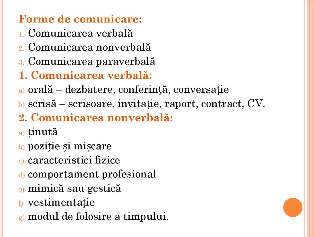 forme ale comunicarii