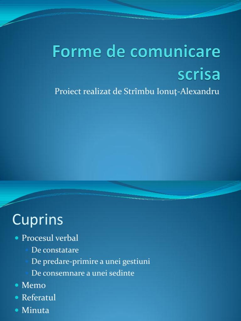 formele de comunicare)