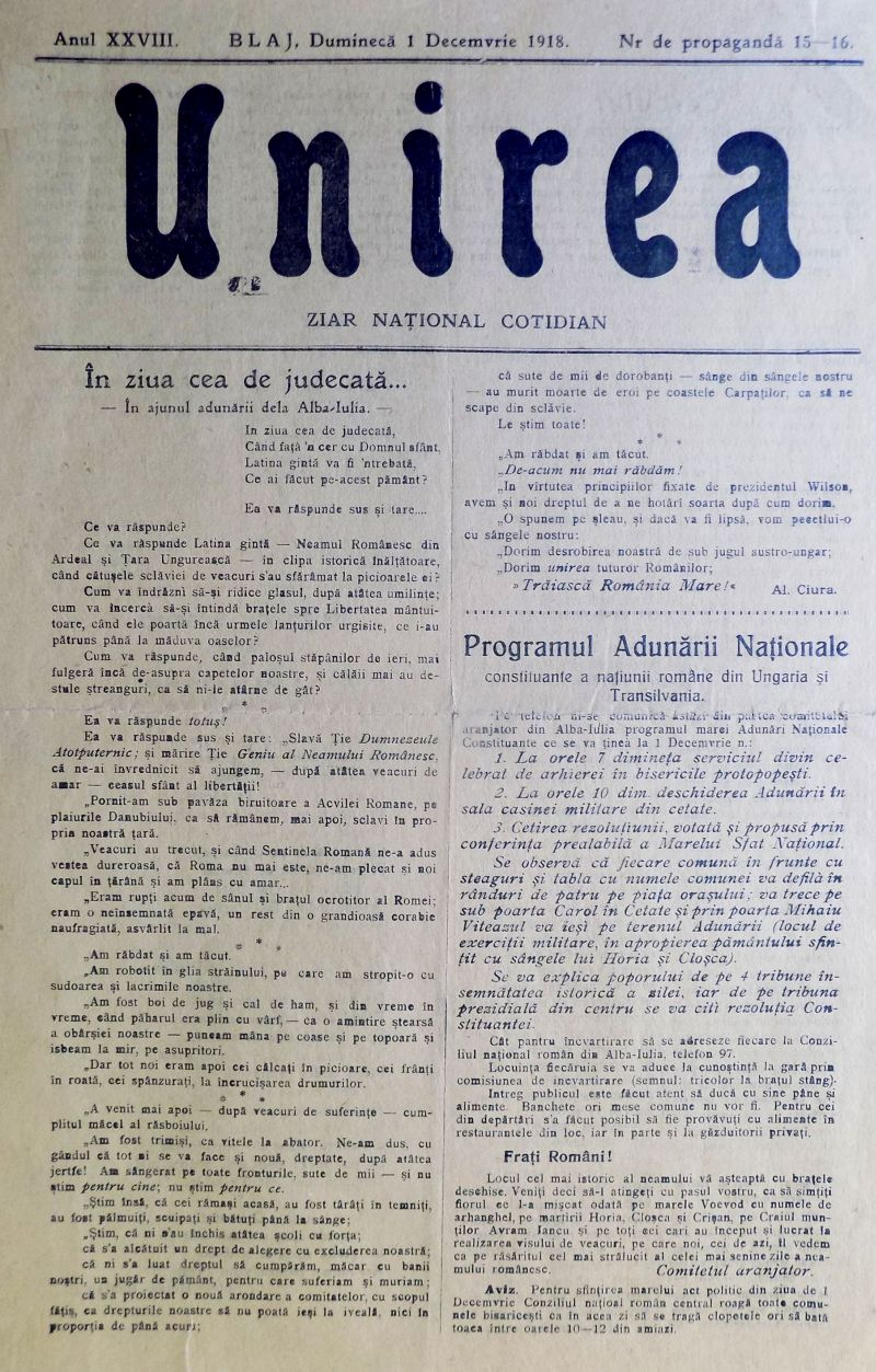 ziarul unirea | stiri alba