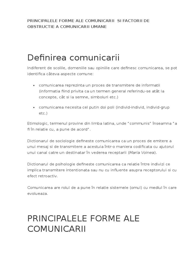 forme ale comunicarii)
